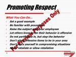promoting respect
