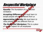 respectful workplace