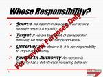 whose responsibility