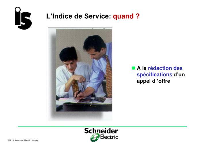 L'Indice de Service: