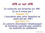 apb or not apb
