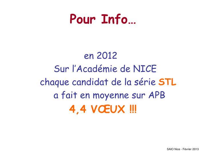 Pour Info…