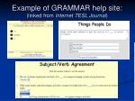 example of grammar help site linked from internet tesl journal
