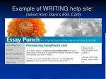 example of writing help site linked from dave s esl caf