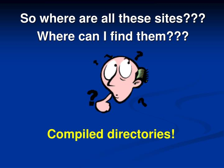 So where are all these sites???