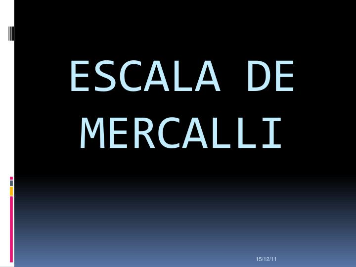 ESCALA DE MERCALLI