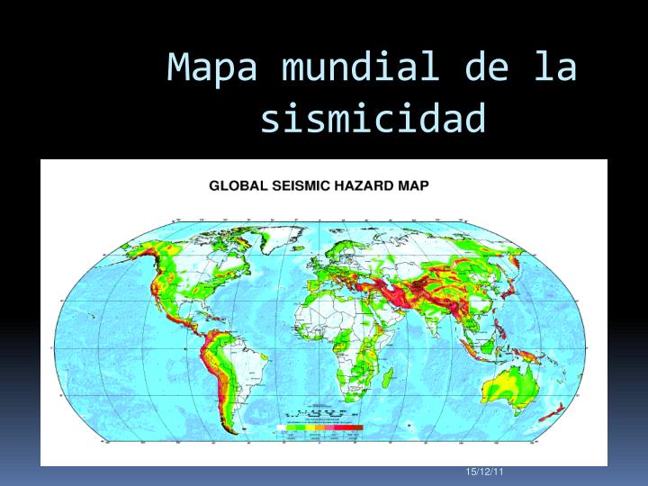 Mapa mundial de la sismicidad