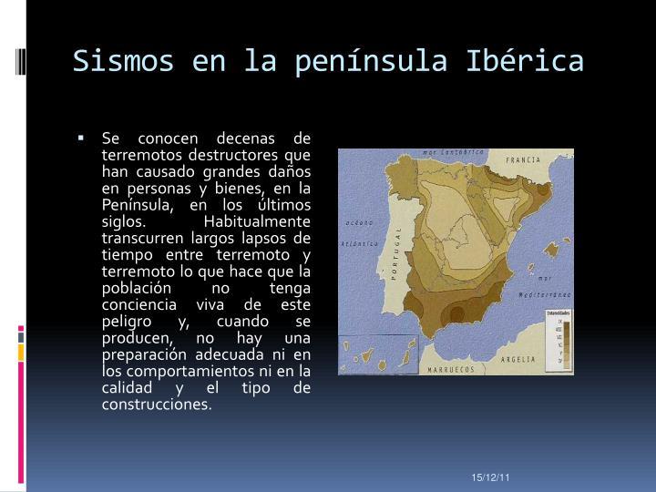 Sismos en la península Ibérica