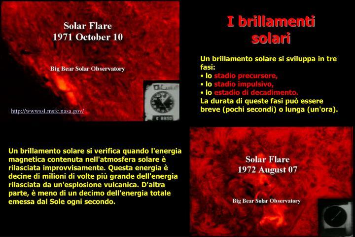 I brillamenti solari