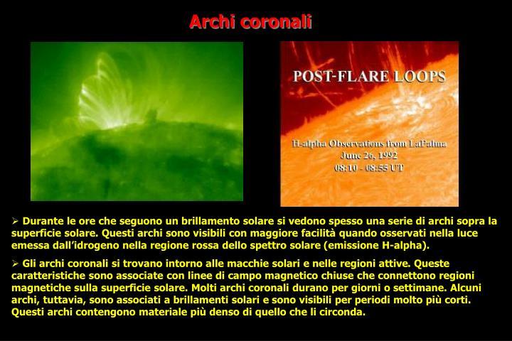 Archi coronali
