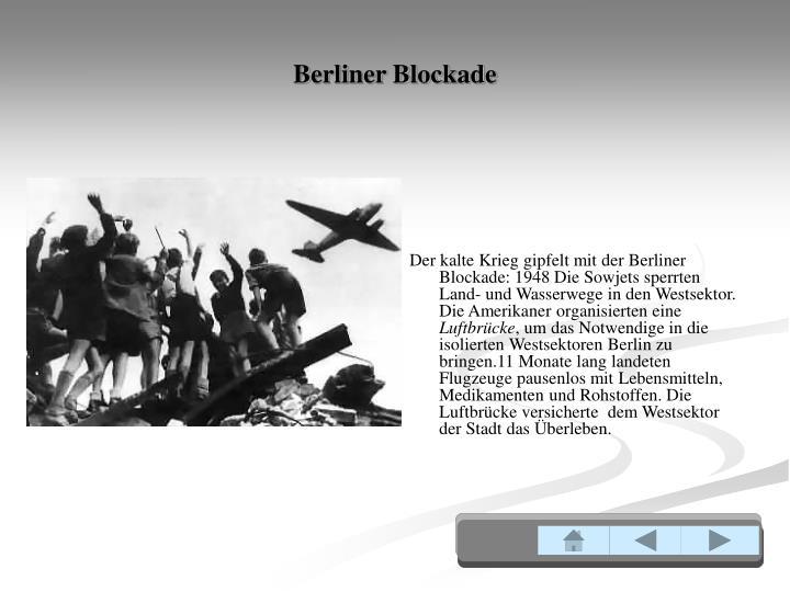 Berliner Blockade