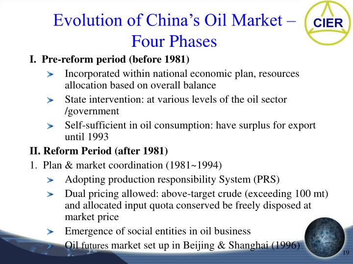 Evolution of China's Oil Market –