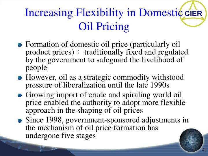 Increasing Flexibility in Domestic Oil Pricing