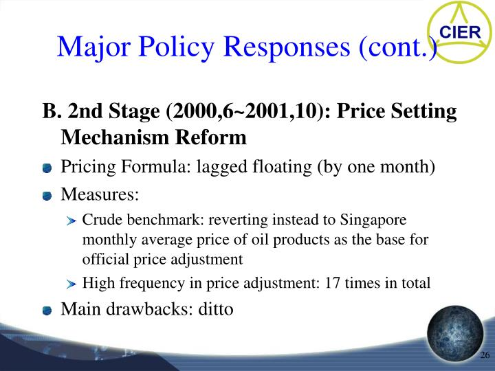 Major Policy Responses (cont.)