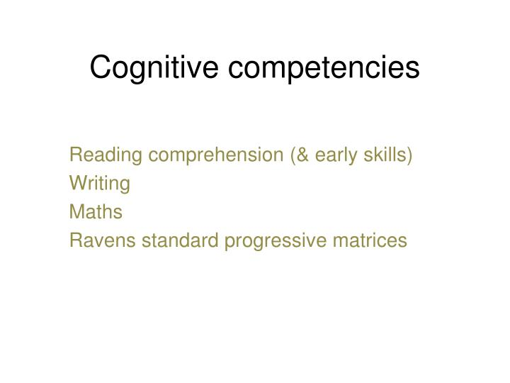 Cognitive competencies