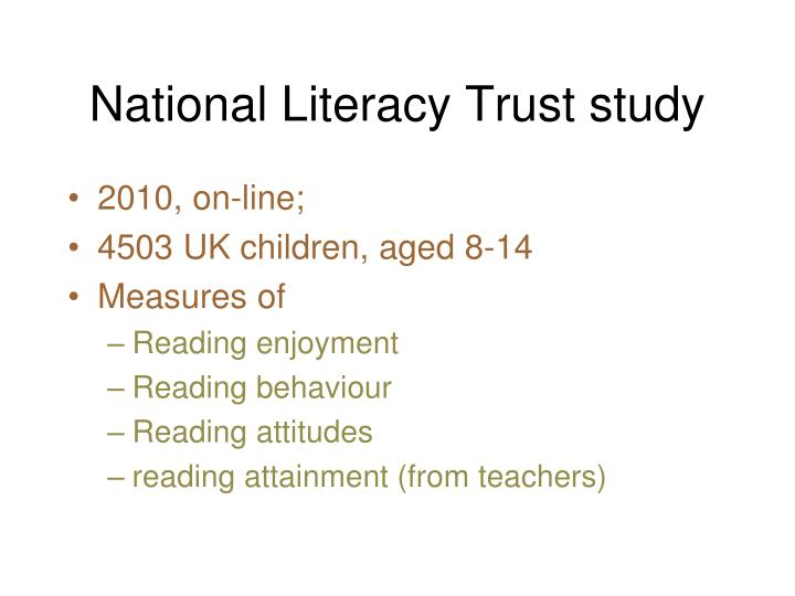 National Literacy Trust study