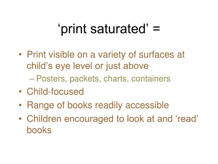 'print saturated' =