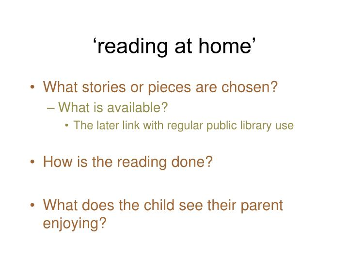 'reading at home'