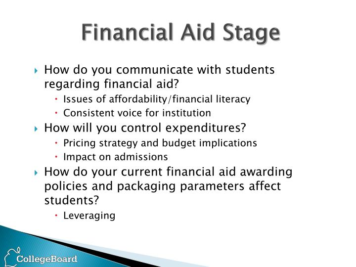 Financial Aid Stage