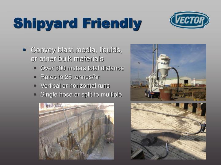 Convey blast media, liquids, or other bulk materials