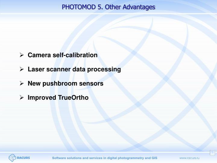 PHOTOMOD 5. Other Advantages