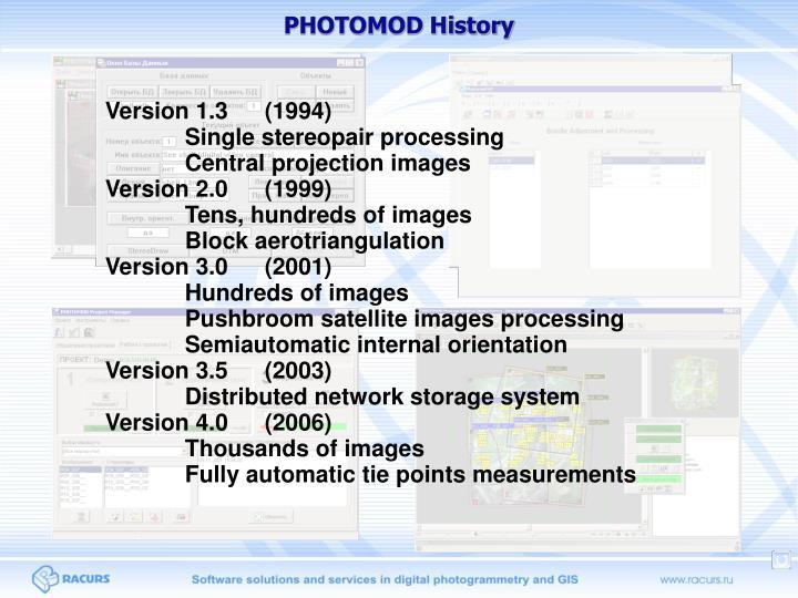 PHOTOMOD History