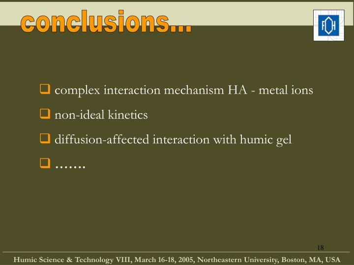 conclusions...