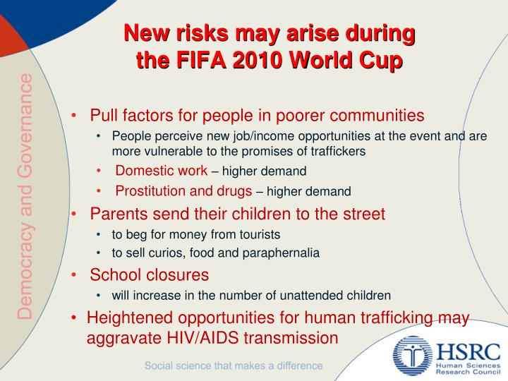 New risks may arise during