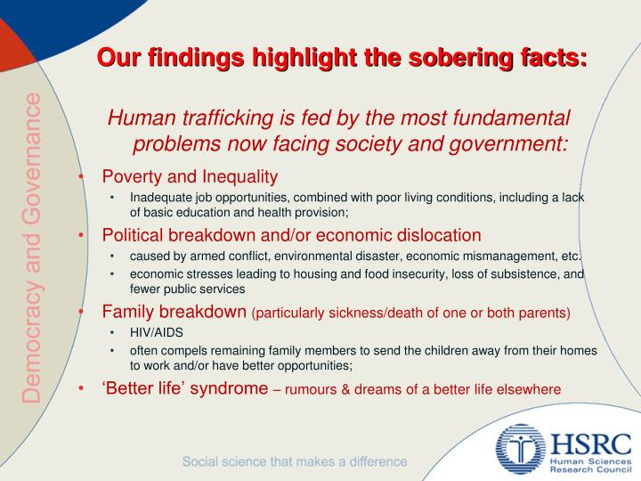Our findings highlight the sobering facts: