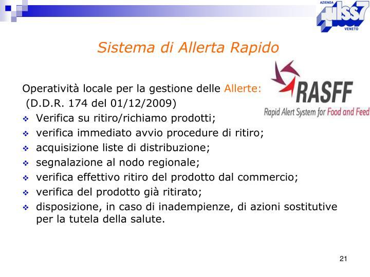 Sistema di Allerta Rapido