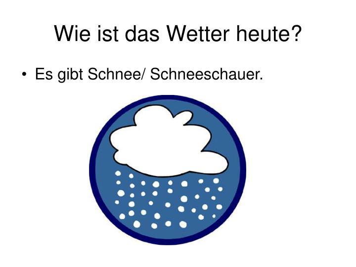 Wie ist das Wetter heute?