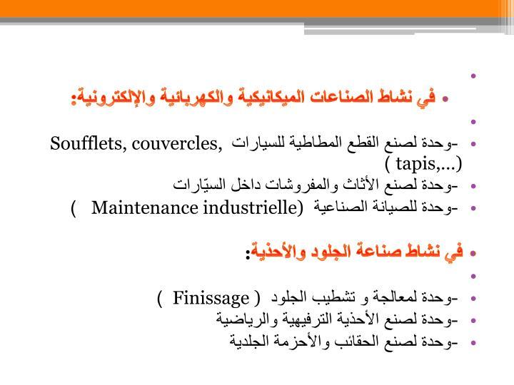 في نشاط الصناعات الميكانيكية والكهربائية والإلكترونية