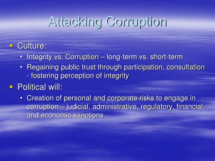 Attacking Corruption