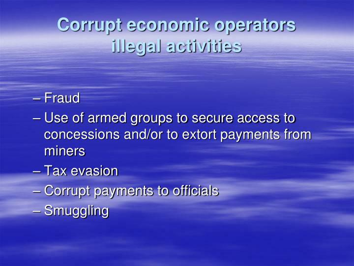 Corrupt economic operators