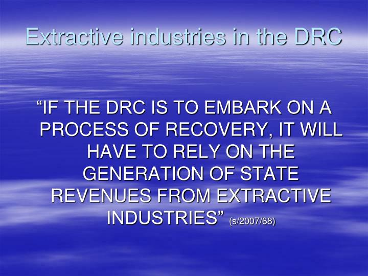 Extractive industries in the DRC