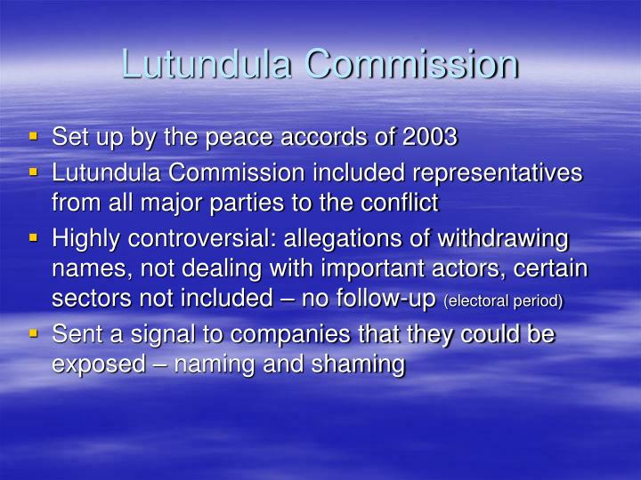 Lutundula Commission