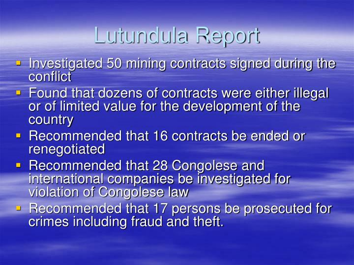 Lutundula Report