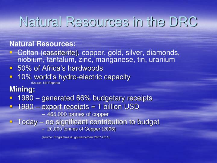 Natural Resources in the DRC