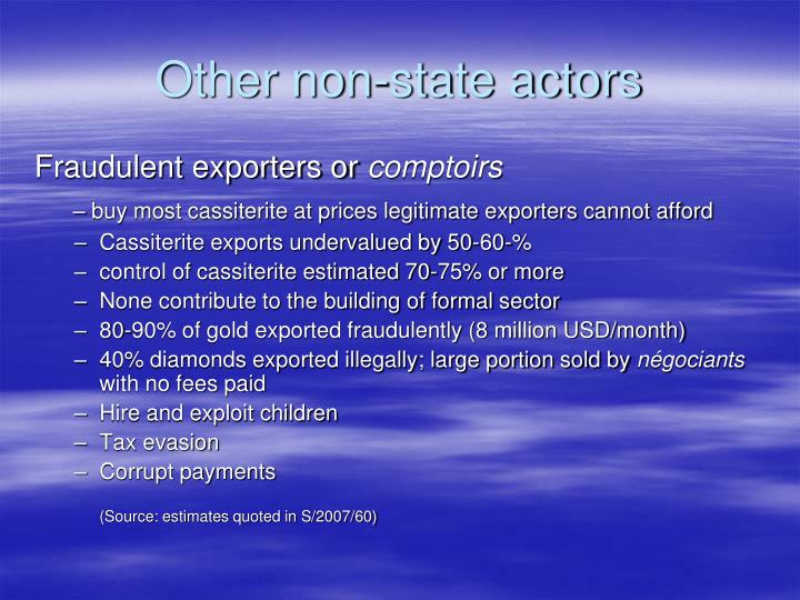Other non-state actors