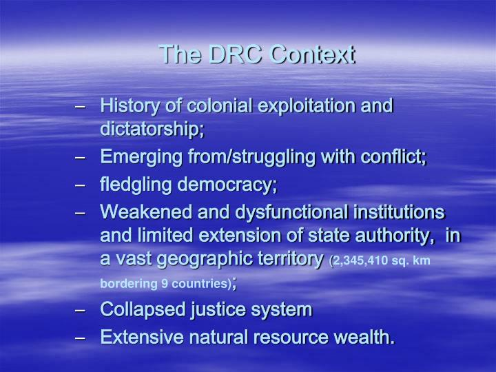 The DRC Context