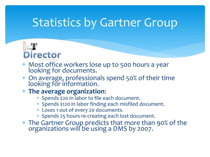 Statistics by Gartner Group