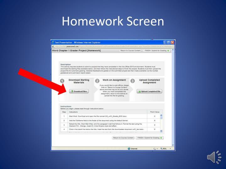 Homework Screen