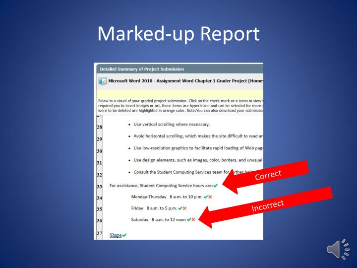 Marked-up Report