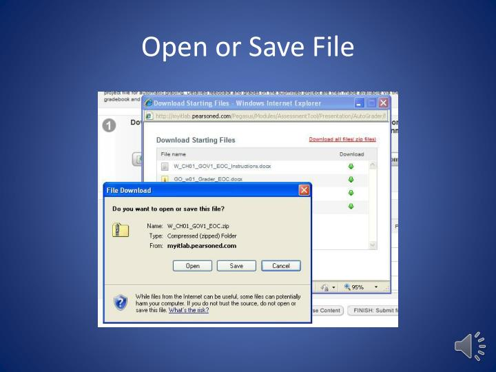 Open or Save File
