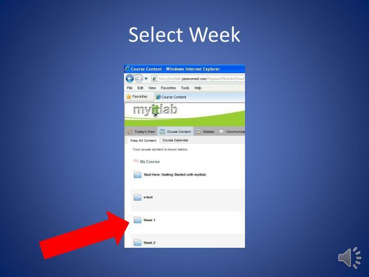 Select Week