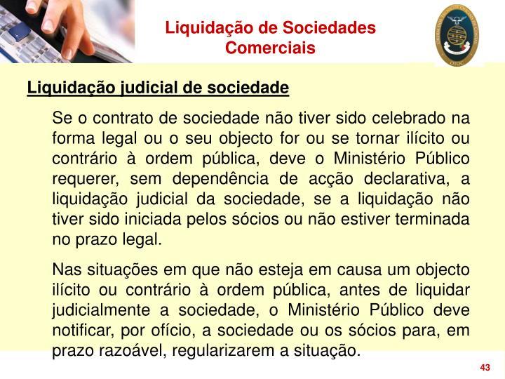 Liquidação de Sociedades Comerciais
