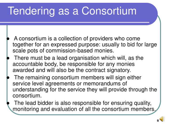 Tendering as a Consortium
