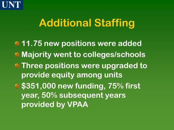 Additional Staffing