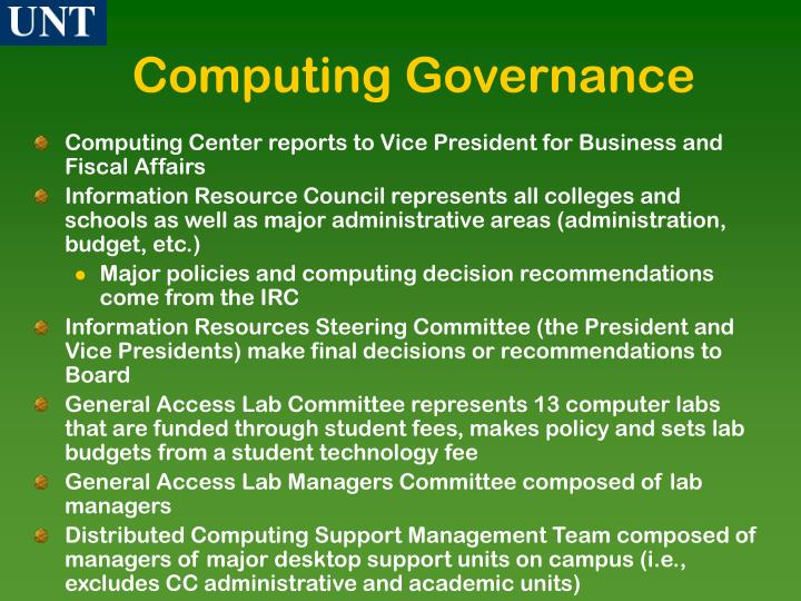 Computing Governance