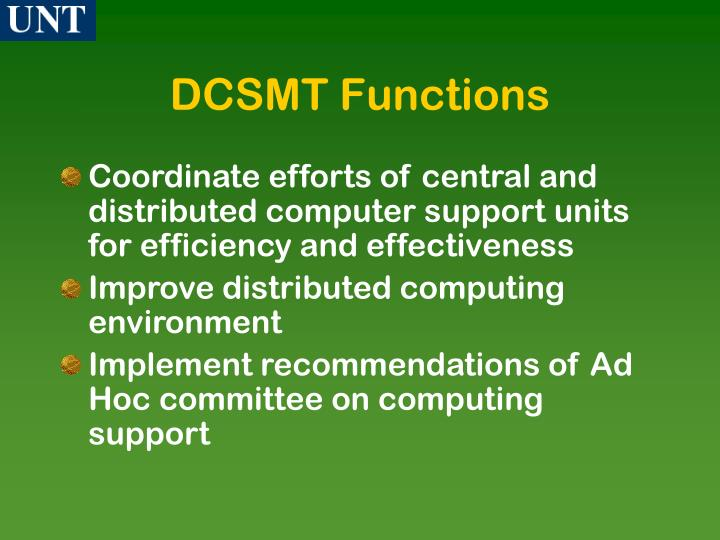 DCSMT Functions